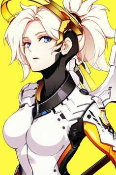 Hot Japan Anime Overwatch Mercy Home Decor Poster Wall Scroll Overwatch Video Game, Overwatch Comic, Overwatch Fan Art, Chibi Overwatch, Overwatch Mercy, Female Characters, Anime Characters, Mercy Fanart, Game Character