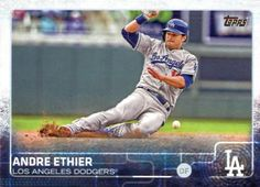 Dodgers Blue Heaven: 2015 Topps Series 1 Baseball - All the Dodger Base Cards & Variations #93 Andre Ethier