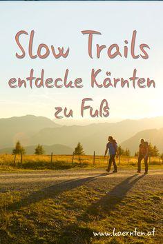 Slow Trails sind entspannte Wege ohne Stress, maximal zehn Kilometer lang und mit nicht mehr als 300 Höhenmetern. Auf keinem ist man länger als drei Stunden unterwegs. Baden geht dabei überall – ob mit einer erfrischenden Abkühlung im prickelnden Nass der Seen oder gar Barfuß über weiche Moospolster beim Waldbaden. Jeder Slow Trail hat seinen eigenen Charakter, seine eigene Geschichte. #Kärnten #Wandern #Wanderwege #Abkühlung #WandernmitKindern Flora Und Fauna, Seen, Trail, Stress, Movie Posters, Movies, Hiking With Kids, Hiking Trails, Films