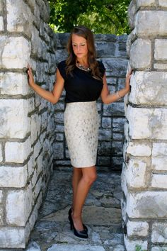 tops to wear with pencil skirts | casual black top and pencil 3 Gorgeous Ways to Wear a Pencil Skirt