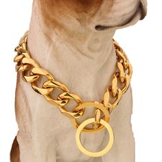 >> Click to Buy << Top quality 19mm 12-34 inch Gold Silver Tone Double Curb Cuban Pet Link Stainless Steel Dog Chain Collar Wholesale Necklaces #Affiliate