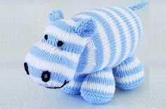Sewing Animals Patterns Easy Free knitting patterns - Free knitting patterns UK: Hippo toy knittingat pattern - goodtoknow - Get your hands on a free knitting patterns created by the knitting experts at Woman's Weekly Free Knitting Patterns Uk, Baby Booties Knitting Pattern, Animal Knitting Patterns, Knitting Kits, Baby Knitting, Knit Patterns, Crochet Pattern, Easy Knitting Projects, Knitted Animals
