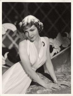 Portrait of Claudette Colbert by Eugene Robert Richee, 1937