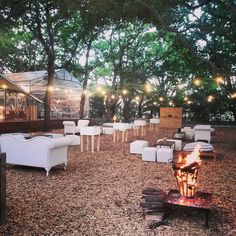 Lounge area and fire pit for outside Wedding Venues Texas, Luxury Wedding Venues, Tent Wedding, Forest Wedding, Autumn Wedding, Wedding Bells, Boho Wedding, Dream Wedding, Wedding Dresses