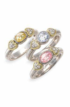 Judith Ripka semiprecious rings