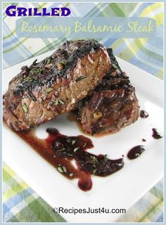 Printable Recipe: Grilled Rosemary and Balsamic Steak We barbeque every Saturday night at our house, rain or shine, summer or winter. My husband does the grill and I prepare the side dishes. (easy ones – it gives me a sort…Read more →