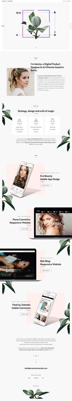 Marina Tureczek - Landing page design inspiration
