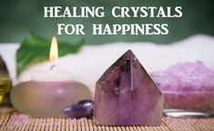 Inspire a positive disposition in your life and live well with these healing crystals for happiness. Make Your Own Bracelet, Healing Stones, Healing Crystals, Healing Crystal Jewelry, Crystal Necklace, Light Amethyst, Cleaning Materials, Natural Energy, Light Peach