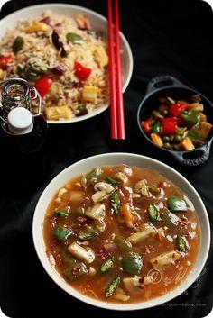 Mushroom in Garlic Sauce Recipe   http://www.monsoonspice.com/2013/01/mushroom-in-garlic-sauce-recipe-indo.html