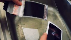 With peel apart instant film you normally just throw away the backing that is covered in chemicals. For this negative reclamation technique we will actually be keeping this part.