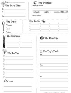 Printable -- Daily Planner