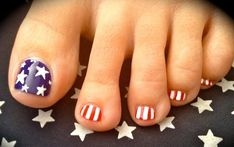 girly nail art design toes | Cool Toes Design For Upcoming Presidential Election :: Nail Art Design ...
