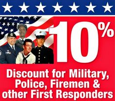 Embrey's Moving Solutions proudly offers a 10% discount to all active or retired Military and First Responders. Thank you for your service!!