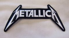 METALLICA MEDIUM Iron On Sew On Embroidered Patch 2 Colours Rock Heavy Metal