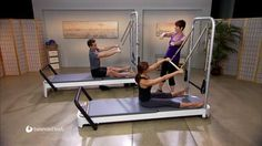 Pilates exercises on the Allegro 2 Tower System.