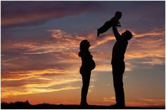 Maternity session, posing ideas with big brother to big sister. Family maternity session. Don't forget the silhouette of the baby bump in the sunset!