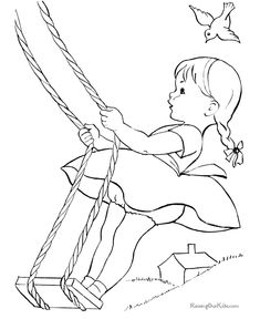 Free coloring page of kid