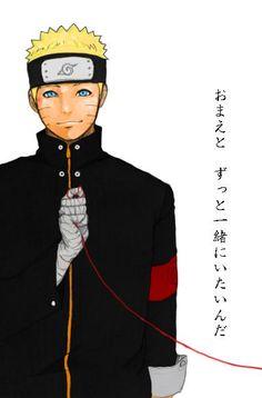 Naruto con el hilo de Hinata