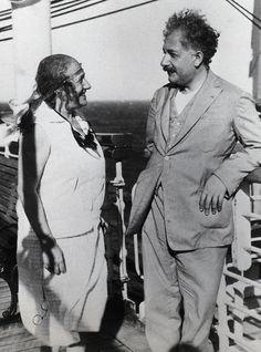 Albert Einstein and His Wife Elsa Aboard a Cruise Ship