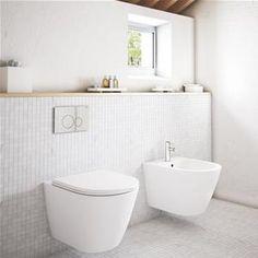 Sanitari sospesi rimless vaso bidet e sedile in ceramica bianca senza brida