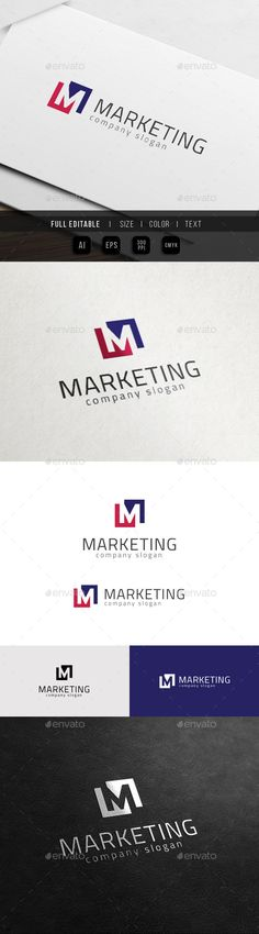 Marketing Media Master Group M - Logo Design Template Vector #logotype Download it here: http://graphicriver.net/item/marketing-media-master-group-m-logo/11427511?s_rank=1754?ref=nesto