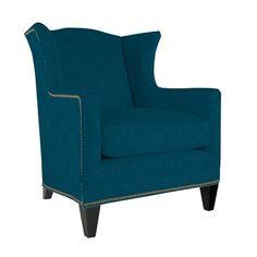 peacock chair with nailhead.