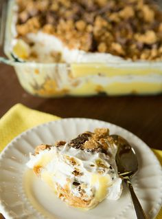 No Bake Peanut Butter Lover's Icebox Cake    this is a perfect summer dessert… cool, light, refreshing and, best of all – no oven required!