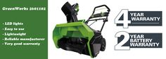 GreenWorks 2601102 cordless snow blower review