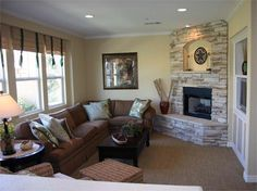 Small Living Room With Corner Fireplace arranging furniture with a corner fireplace | fireplaces