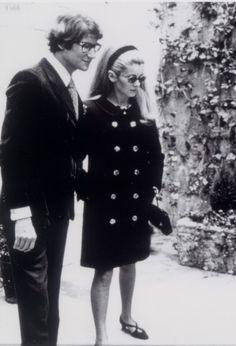 YSL and Catherine Deneuve, 1966