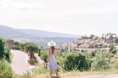 Gal Meets Glam Oppede, Menerbes & Bonnieux, Provence - Privacy Please dress, Cuyana hat, Sezane flats & Carolina Santo Domingo bag