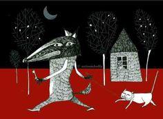 IN UNA NOTTE NERA www.antonioboffa.com (il mio lupo)