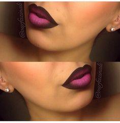 Loving this lip ombré thing