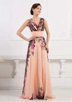 Vestido De Festa Importado Floral, Madrinha, Formatura - R$ 389,00