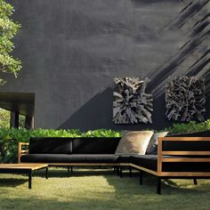 stylish garden furniture set | adamchristopherdesign.co.uk