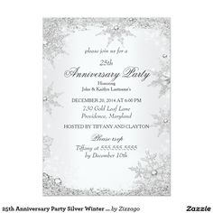25th Anniversary Party Silver Winter Wonderland