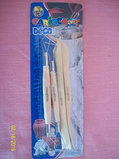 Carioca Art Deco Modeling Tools Pottery Scuplting Clay Crafts Supplies Kids New #cariocaArt