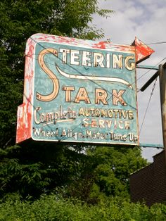 Old Stark Automotive sign in Sugarhouse, Salt Lake City, Utah. Photography by David E. Love Neon Sign, Neon Signs, Vintage Signs, Vintage Ads, Cool Typography, Interesting Buildings, Old Signs, Architectural Features, Slc