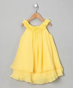 SOPHIA YOUNG. Silk Chiffon Rose Yoke Dress.