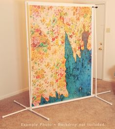 portable backdrop stand for photo booth backdrop by luz