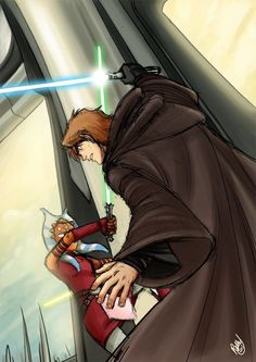 Anakin trying to kill Ahsoka in Order 66...