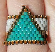 Peyote ring lovely triangle