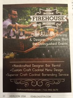 Craft cocktail catering
