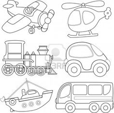Transportation Coloring Page: Plane | Transportation, Worksheets and ...