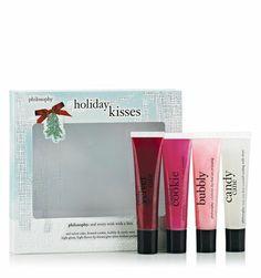 holiday kisses | high-gloss, high-flavor lip shine set | philosophy new!
