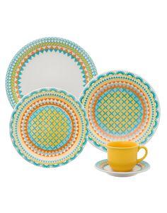 Oxford Porcelanas - Floreal Bilro 30 peças