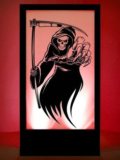 Grim Reaper Silhouette Panel #1 | Halloween Party Theme | Halloween Party Theming Hire | Event Prop Hire