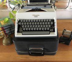 Working Typewriter, Typewriter For Sale, Portable Typewriter, Etsy Shop, Gray, Birthday, Vintage, Birthdays
