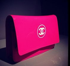 Hot pink Chanel clutch