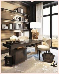 60 Home Office Organization Favorites 2020 - ★★ Betty R. Guzik ★★ 60 Home Office Organization Favori Office Decor Professional, Office Design Inspiration, Interior, Modern Office Decor, Modern Office Space, Home Office Design, Interior Design, Luxury Office, Office Design